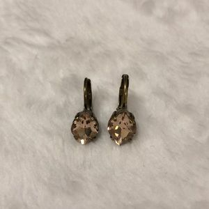Bhldn Peach abs Brass Lever Back Earrings
